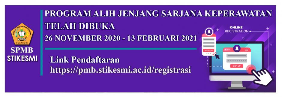 PENDAFTARAN MAHASISWA BARU 2020/2021 PROGRAM ALIH JENJANG SARJANA KEPERAWATAN